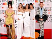 <p>The 2021 BRIT Awards are officially underway, and the celebs have been busy walking the red carpet which means tonnes of epic looks. </p><p>From Dua Lipa channelling Amy Winehouse to Little Mix in head-to-toe white (featuring Leigh-Anne and Perrie's baby bumps, of course), scroll through the gallery to see our favourite looks.<br></p>