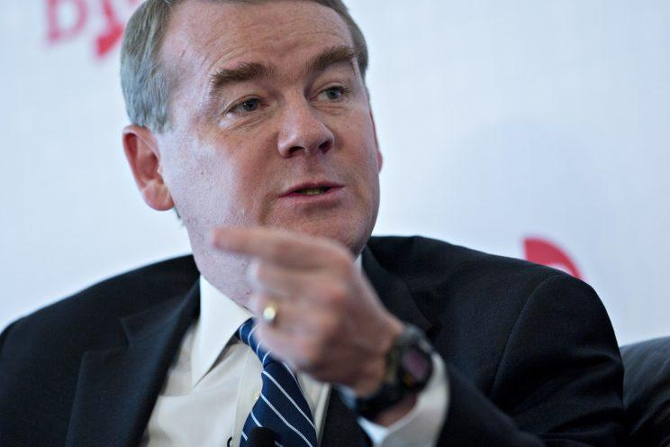 Senator Michael Bennet, a Democrat from Colorado, speaks during a Business Roundtable panel in Washington, D.C., U.S., on Wednesday, June 7, 2017. The Business Roundtable panel discussed the U.S. skills gap and its importance in solving the problem to spur economic growth and individual prosperity.