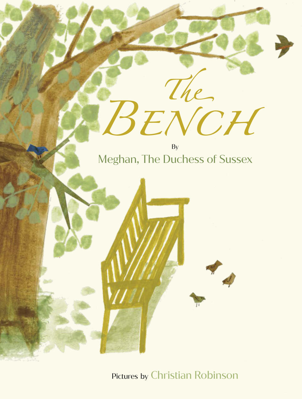 """This image released by Random House Children's Books shows """"The Bench,"""" a children's book by Meghan, The Duchess of Sussex, and with pictures by Christian Robinson. The book will publish on June 8. (Random House Children's Books via AP)"""