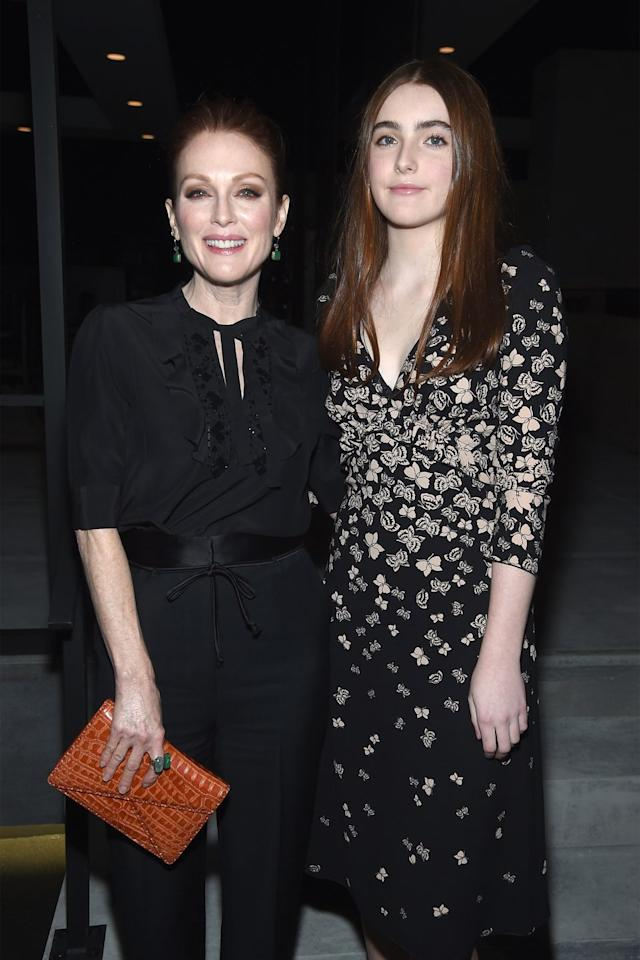 """<p>Julianne Moore gave birth to son Caleb in her late 30s. Her daughter Liv was born five years later, in 2002, when the actress was 41. In a recent interview with <a href=""""https://www.dailytelegraph.com.au/lifestyle/sunday-style/julianne-moore-from-still-alice-on-winning-an-oscar--and-birthdays/news-story/332457584796203d7fcdd09f642cc07a"""" target=""""_blank""""><em>The Daily Telegraph</em></a>, the <em>Still Alice</em> star says she and husband, film director Bart Freundlich, keep their two (now teenage) children grounded. """"They live a regular life,"""" she says.</p>"""
