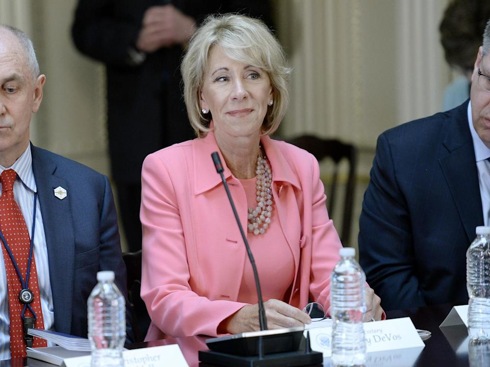 Betsy DeVos sought to divert billions to for-profit private schoolsOlivier Douliery-Pool/Getty