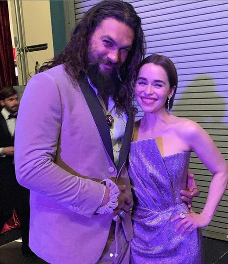 Emilia Clarke And Jason Momoa Had A Game Of Thrones Reunion At The