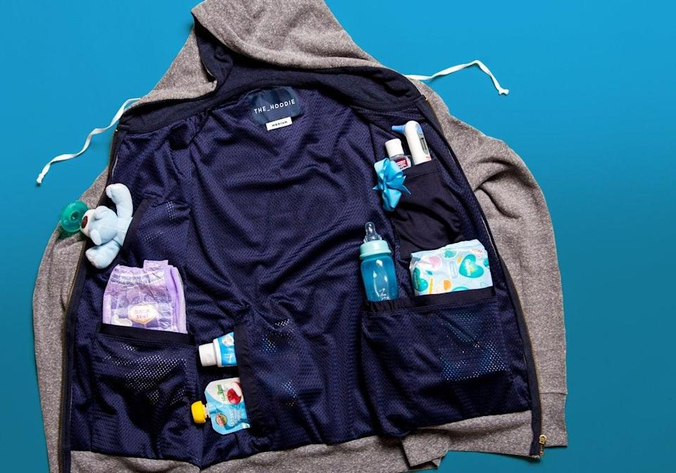 """<h3><h2>The Dad Hoodie</h2></h3><br><strong>Under $100</strong><br>If you've got a new dad on your hands, look no further than The Dad Hoodie the ultimate gift. It's breathable, stretchable, and it's got tons of storage compartments for everything a parent needs to get the job done. <br><br><em>Shop <strong><a href=""""https://thedadhoodie.com/"""" rel=""""nofollow noopener"""" target=""""_blank"""" data-ylk=""""slk:The Dad Hoodie"""" class=""""link rapid-noclick-resp"""">The Dad Hoodie</a></strong></em><br><br><strong>The Dad Hoodie</strong> The Dad Hoodie, $, available at <a href=""""https://go.skimresources.com/?id=30283X879131&url=https%3A%2F%2Fthedadhoodie.com%2Fproducts%2Fthe-dad-hoodie"""" rel=""""nofollow noopener"""" target=""""_blank"""" data-ylk=""""slk:The Dad Hoodie"""" class=""""link rapid-noclick-resp"""">The Dad Hoodie</a>"""