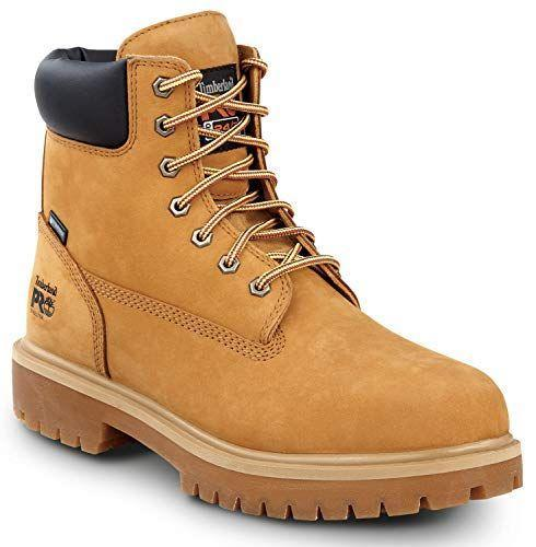 """<p><strong>Timberland PRO</strong></p><p>amazon.com</p><p><strong>$139.99</strong></p><p><a href=""""https://www.amazon.com/dp/B07W8VWNJX?tag=syn-yahoo-20&ascsubtag=%5Bartid%7C2139.g.36007474%5Bsrc%7Cyahoo-us"""" rel=""""nofollow noopener"""" target=""""_blank"""" data-ylk=""""slk:BUY IT HERE"""" class=""""link rapid-noclick-resp"""">BUY IT HERE</a></p><p>Yep, you can cop a pair of Timbs on Amazon. They're waterproof, warm, slip-resistant, and this Pro version even comes complete with a steel toe. These are <em>the</em> winter boot of NYC, and if that doesn't prove to you that they're up for anything, I'm not sure what will. </p>"""