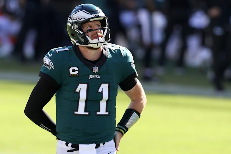 Quarterback Carson Wentz #11 of the Philadelphia Eagles