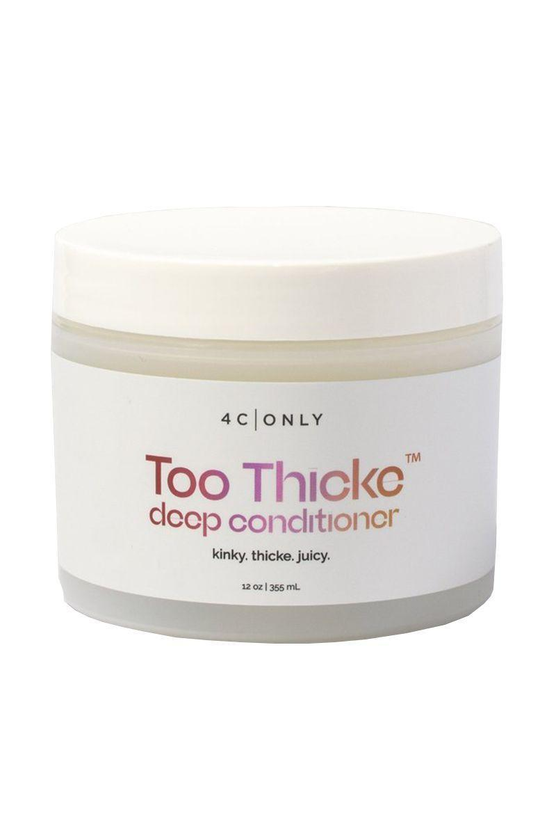 "<p><strong>Too Thicke Deep Conditioner</strong></p><p>4conly.com</p><p><strong>$22.50</strong></p><p><a href=""https://4conly.com/products/too-thicke-deep-conditioner"" rel=""nofollow noopener"" target=""_blank"" data-ylk=""slk:Shop Now"" class=""link rapid-noclick-resp"">Shop Now</a></p><p>This newly-launched haircare brand for 4c curls is 15% off for Black Friday through Cyber Monday with code ""4CBLACK.""</p>"