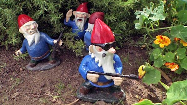 Merveilleux G.I. Gnome? Creator Hand Makes Garden Gnomes In Combat Poses
