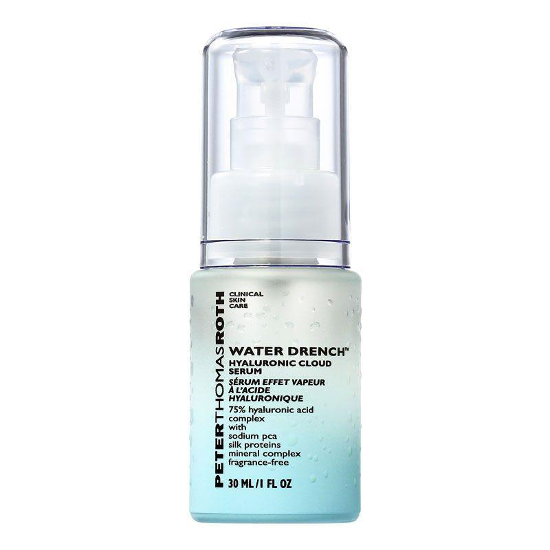"""<p>This serum is packed with 75% hyaluronic acid complex to rehydrate, plump the skin and reduce fine lines. Silk protections, zinc, copper and iron are also in here to soften and help with skin cell repair.</p><p><a class=""""link rapid-noclick-resp"""" href=""""https://www.cultbeauty.co.uk/peter-thomas-roth-water-drench-hyaluronic-cloud-serum.html"""" rel=""""nofollow noopener"""" target=""""_blank"""" data-ylk=""""slk:Buy now"""">Buy now</a> Beautybay.com, £51</p>"""