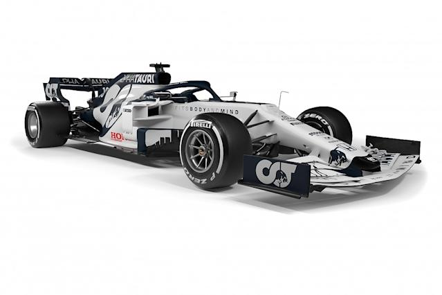 First AlphaTauri F1 car unveiled in striking livery