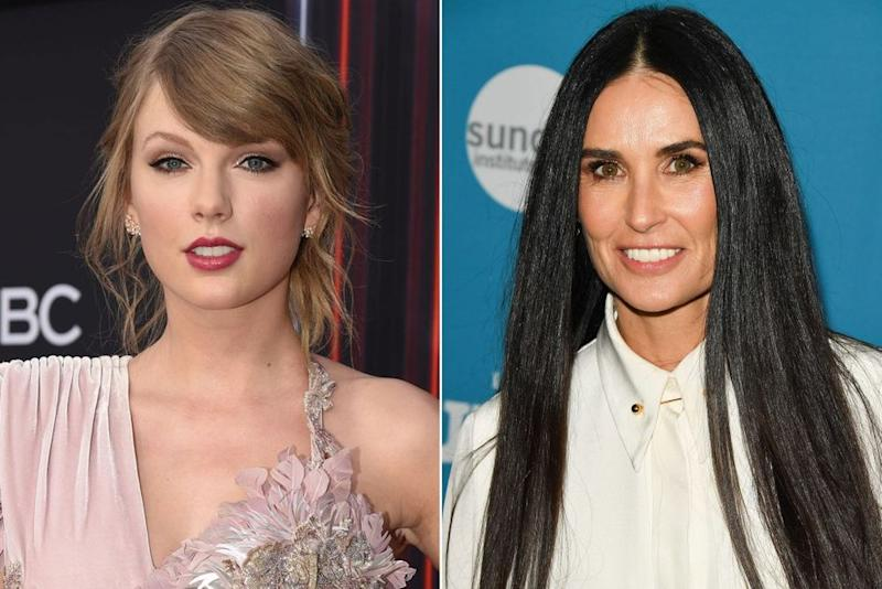 Taylor Swift and Demi Moore | Brian Friedman/NBCU Photo Bank/NBCUniversal via Getty Images via Getty; George Pimentel/Getty