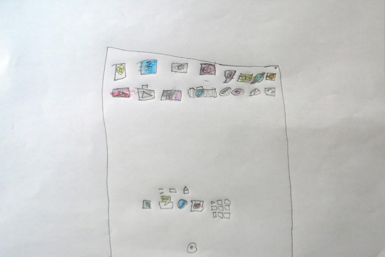 """A drawing of what Lynn Habbouche, 6, wants to get for Christmas from Santa, is seen in Beirut, Lebanon November 26, 2016. All she wants from Santa is to recover and an iPad, she said. Reuters photographers around the world asked children to draw what they wanted to receive from Santa for Christmas. REUTERS/Jamal Saidi           SEARCH """"CHRISTMAS WISHES"""" FOR THIS STORY. SEARCH """"WIDER IMAGE"""" FOR ALL STORIES."""