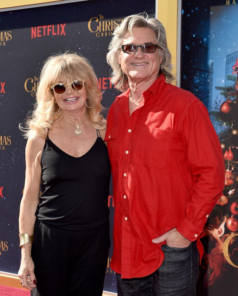 Goldie Hawn and Kurt Russell attend the premiere of Netflix's 'The Christmas Chronicles' at Fox Bruin Theater on November 18, 2018 in Los Angeles, California. (Photo by Axelle/Bauer-Griffin/FilmMagic)