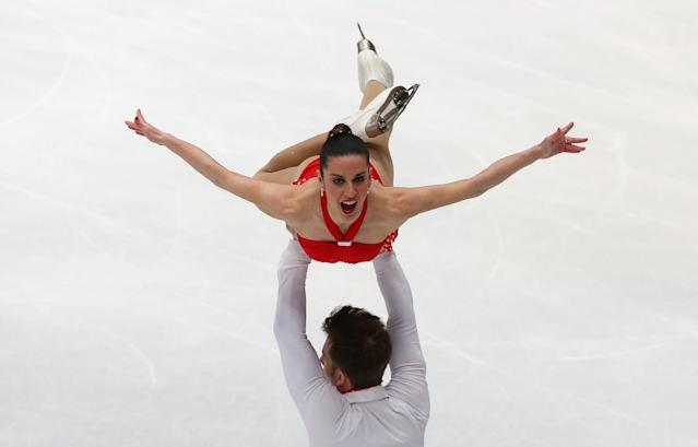 Figure Skating - World Figure Skating Championships - The Mediolanum Forum, Milan, Italy - March 21, 2018 Italy's Valentina Marchei and Ondrej Hotarek during the Pairs Short Programme REUTERS/Alessandro Bianchi