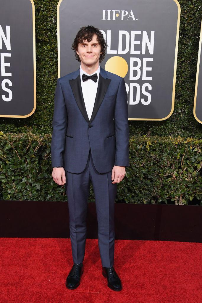 <p>Evan Peters attends the 76th Annual Golden Globe Awards at the Beverly Hilton Hotel in Beverly Hills, Calif., on Jan. 6, 2019. (Photo: Getty Images) </p>