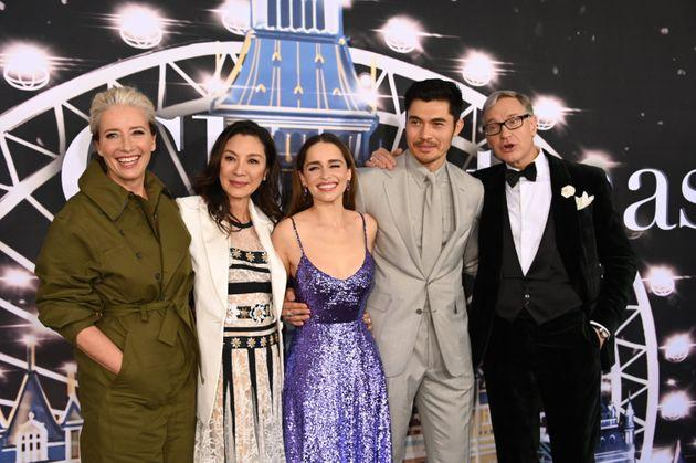 Emma Thompson, Michelle Yeoh, Emilia Clarke, Henry Golding and Paul Feig at the Last Christmas premiere in New York