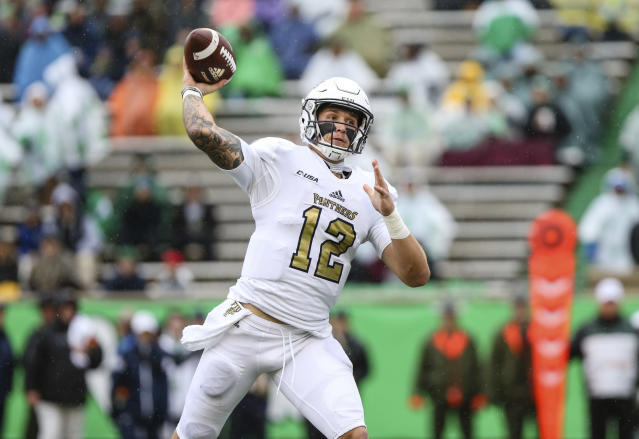 FIU quarterback Alex McGough has 12 touchdowns with only two interceptions over his last six games. (Sholten Singer/The Herald-Dispatch via AP)
