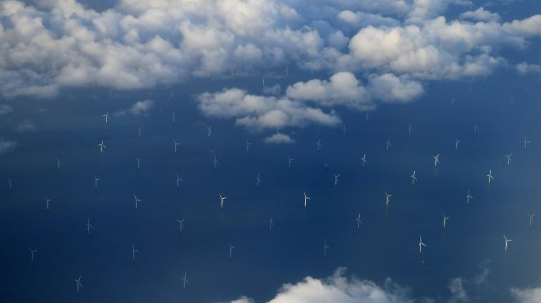 The Burbo Bank Offshore Wind Farm in Liverpool Bay has helped the UK produce the majority of its electricty from renewable sources for the first time