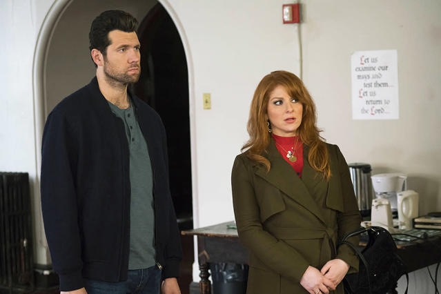 "<p><strong>This Season's Theme:</strong> Season 3 is about ""the pursuit of happiness,"" says creator/executive producer/ star Julie Klausner. ""Which in typical Julie style, she approaches like a mission. But if so much of who they are is defined by misery, how much can they really change?""<br><strong>Where We Left Off:</strong> July and Billy (Billy Eichner) still can't stand anyone. Julie's big opportunity with Josh Gad's production company blew up. Matthew's elderly fiancé Elmer died at the wedding after Billy, full of self-pity about his failed relationships, met Elmer's ginger-haired female bestie and saw his future.<br><strong>Coming Up:</strong> Billy gets his first serious boyfriend (<em>Star Trek</em>'s John Cho). ""Billy meets his match in Todd, a guy he runs into in a very <em>Difficult People</em>‑ized version of a romantic comedy meet cute,"" Eichner says. ""In the midst of dealing with his own professional struggles, he now has to figure out what it means to have a boyfriend and how that fits into his life."" Klausner adds, ""The key with writing Todd is to make him as much of an a–hole as me and Billy. So they fight first and then kiss.""<br><strong>Difficult Subplots:</strong> Marilyn (Andrea Martin) gets a book deal. PBS relocates to Florida, forcing Arthur (James Urbaniak) into a hellish commute, Chris Elliott guest stars, and Julie gets facial fillers. <em>— Carrie Bell</em><br><br>(Photo: Hulu) </p>"