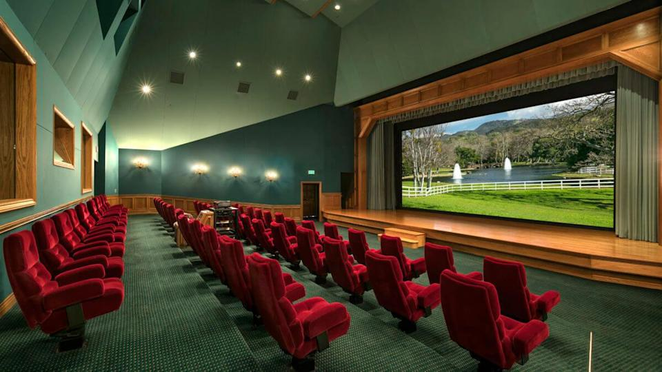 Movie theatre in Neverland