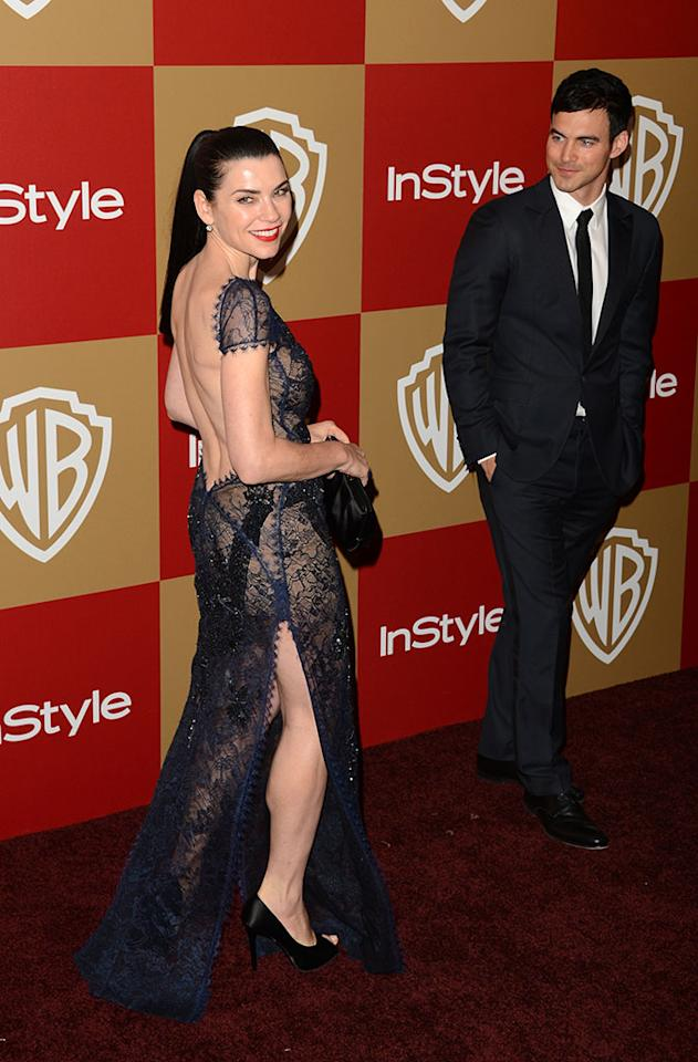 Julianna Margulies attends the 14th Annual Warner Bros. And InStyle Golden Globe Awards After Party held at the Oasis Courtyard at the Beverly Hilton Hotel on January 13, 2013 in Beverly Hills, California.