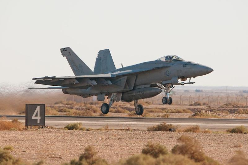 The F/A-18 fighter jet, similar to the one pictured, had two crew onboard when it crashed (AFP Photo/Wolfram M. Stumpf)
