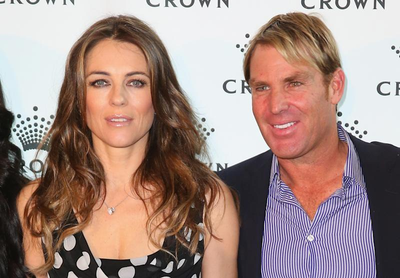 Liz and ex Shane Warne pictured in 2013. Photo: Getty