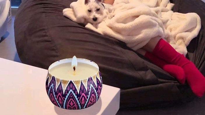 Lavender is one of four relaxing scents included in this the Fimiss scented candles gift set.