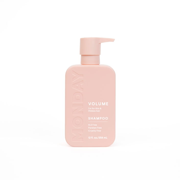 "<p>""There's so much to love about the new Monday hair-care line: its <a href=""https://www.allure.com/story/best-sulfate-free-shampoos?mbid=synd_yahoo_rss"" rel=""nofollow noopener"" target=""_blank"" data-ylk=""slk:sulfate-free formulas"" class=""link rapid-noclick-resp"">sulfate-free formulas</a>, the pretty pink packaging, and, of course, its <a href=""https://www.allure.com/gallery/best-of-beauty-drugstore-product-winners?mbid=synd_yahoo_rss"" rel=""nofollow noopener"" target=""_blank"" data-ylk=""slk:under-$10 price tag"" class=""link rapid-noclick-resp"">under-$10 price tag</a>. I'd be remiss to not acknowledge the boost of volume and texture I get after every wash with the Volume Shampoo and Conditioner, too — a much-appreciated effect from this very fine-haired beauty editor."" <em>— Sarah Kinonen, associate beauty director</em></p> <p><strong>$8</strong> (<a href=""https://cna.st/affiliate-link/DBDZJrJC4dJydjwgjzU2PxRTZRrUmBtGfnE6pek6UHBfkgBqWhab8A5uma4ruZb78rmFY6NFgCjx48CeGKYpqoGpSPuzoE2onMpdpwZBu4AR9THp8bHkgQao7KHAoGr?cid=602dda3c8b85ac59a839514d"" rel=""nofollow noopener"" target=""_blank"" data-ylk=""slk:Shop Now"" class=""link rapid-noclick-resp"">Shop Now</a>)</p>"