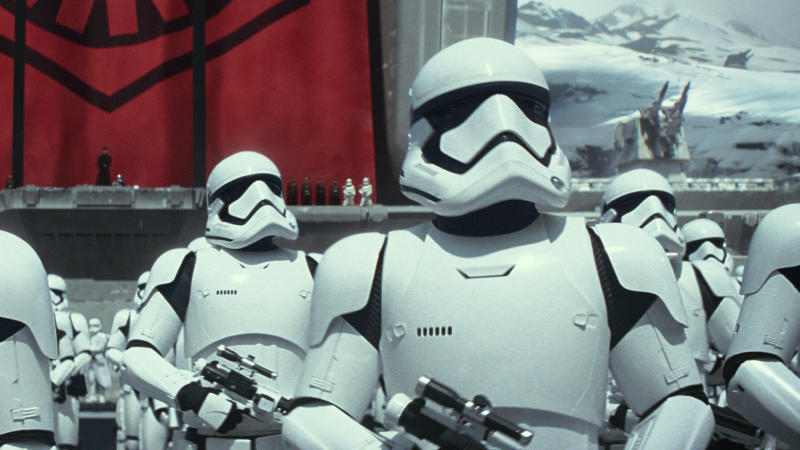 Stormtroopers in 'Star Wars: The Force Awakens'. (Credit: Disney/Lucasfilm)