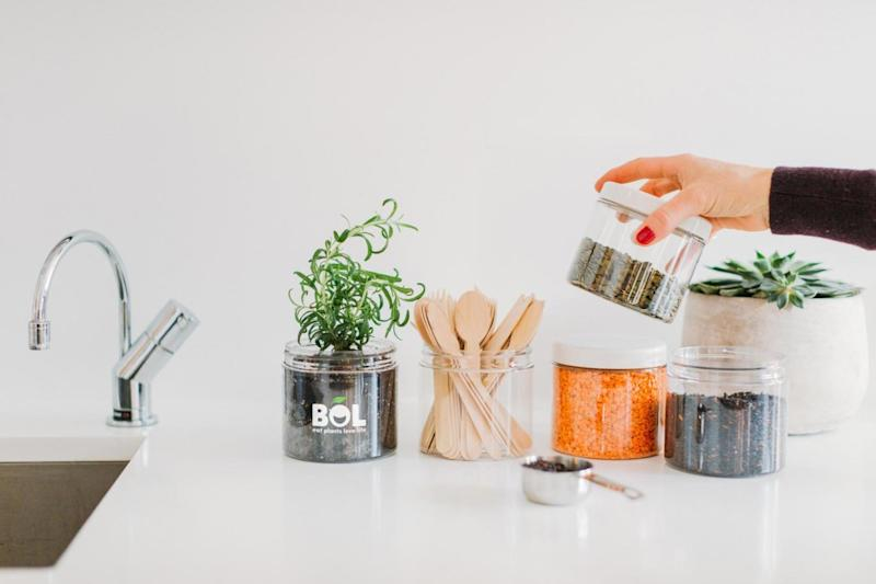 BOL encourages customers to upcycle its plastic containers - to store food, or even as a plant pot (BOL)