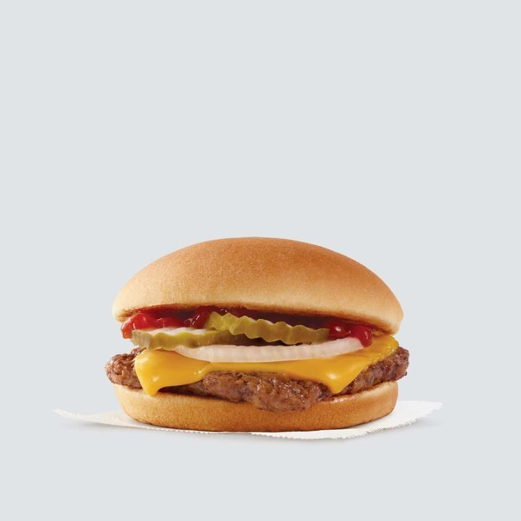 """<p>""""If you want a cheeseburger, practice portion control and go for the Jr. Cheeseburger, which has just 280 calories and 16 grams of filling protein."""" —<em>Amy Shapiro, RD</em></p><p><em>Per <a href=""""https://menu.wendys.com/en_US/product/jr-cheeseburger/"""" target=""""_blank"""">cheeseburger</a>: 280 cal, 13 g fat (6 g sat), 26 g carbs, 5 g sugar, 530 mg sodium, 1 g fiber, 16 g protein</em><br></p>"""