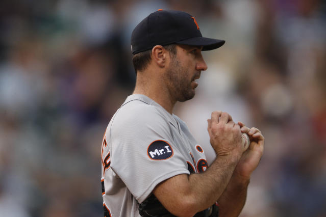 "<a class=""link rapid-noclick-resp"" href=""/mlb/players/7590/"" data-ylk=""slk:Justin Verlander"">Justin Verlander</a> is on his way to Houston. (AP Photo/David Zalubowski)"