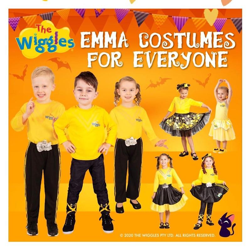 Girls and boys in Emma Wiggles costumes