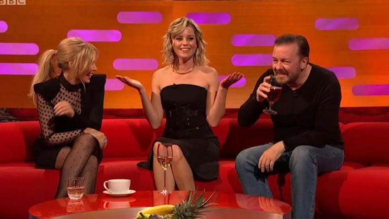 Kylie Minogue Elizabeth Banks and Ricky Gervais appear on The Graham Norton show