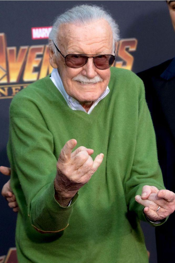 Stan Lee at the <em>Avengers: Infinity War </em>premiere in 2018.
