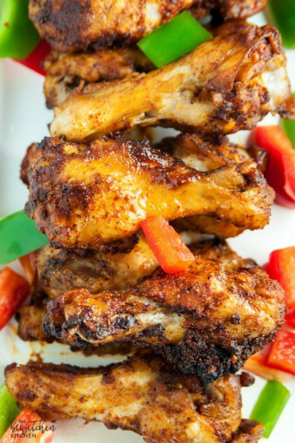 "<p>Not all snack foods have to be unhealthy and these delicious baked wings prove that. </p><p><strong>Get the recipe at <a href=""http://www.thebewitchinkitchen.com/fajita-chicken-wings/"" rel=""nofollow noopener"" target=""_blank"" data-ylk=""slk:The Bewitchin Kitchen"" class=""link rapid-noclick-resp"">The Bewitchin Kitchen</a>. </strong></p>"