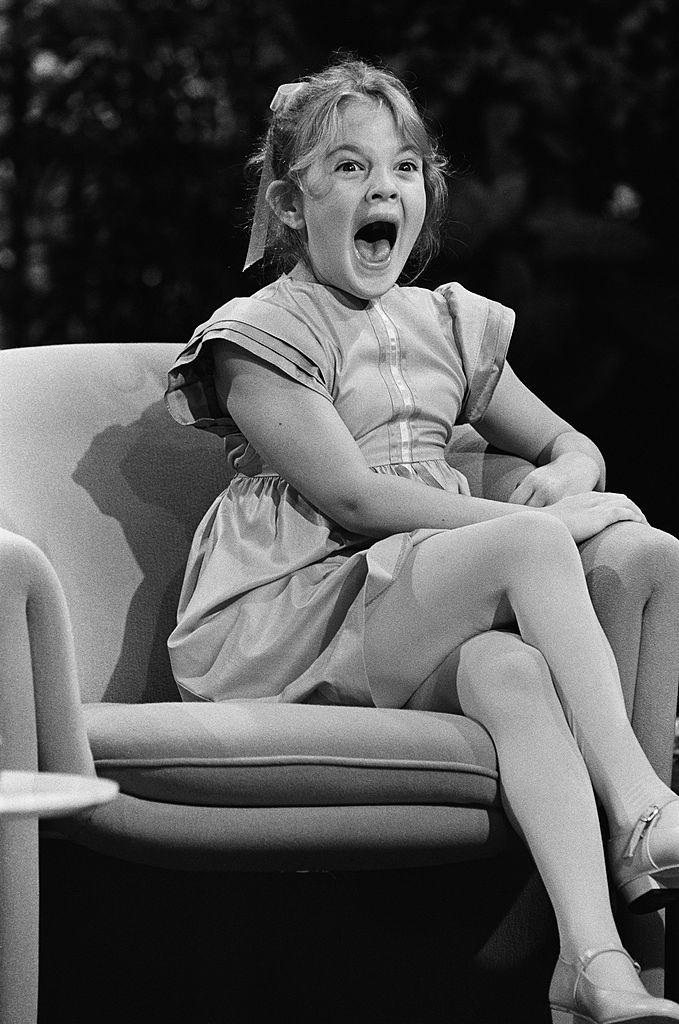 Drew Barrymore as a child on the Tonight Show.