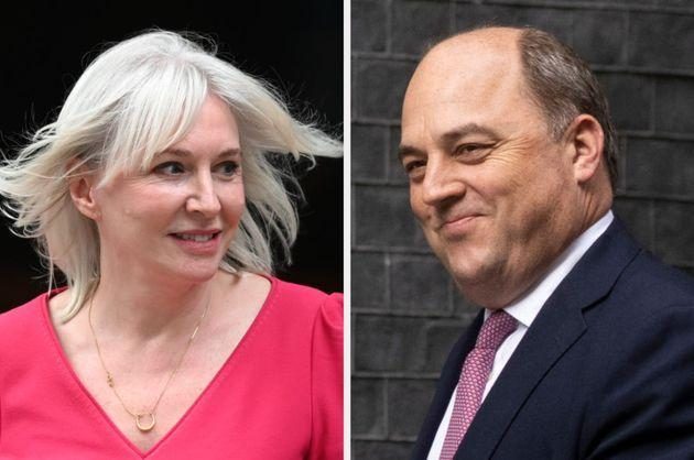 New culture secretary Nadine Dorries and defence secretary Ben Wallace (Photo: Getty)