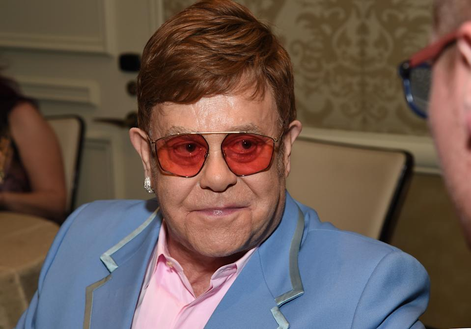 Elton John attends the BAFTA Tea Party Presented by Jaguar Land Rover and BBC America on January 04, 2020 in Los Angeles, California.