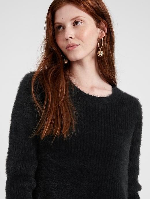 <p>This <span>Banana Republic Fuzzy Crew-Neck Sweater</span> ($72, originally $99) goes great with jeans.</p>
