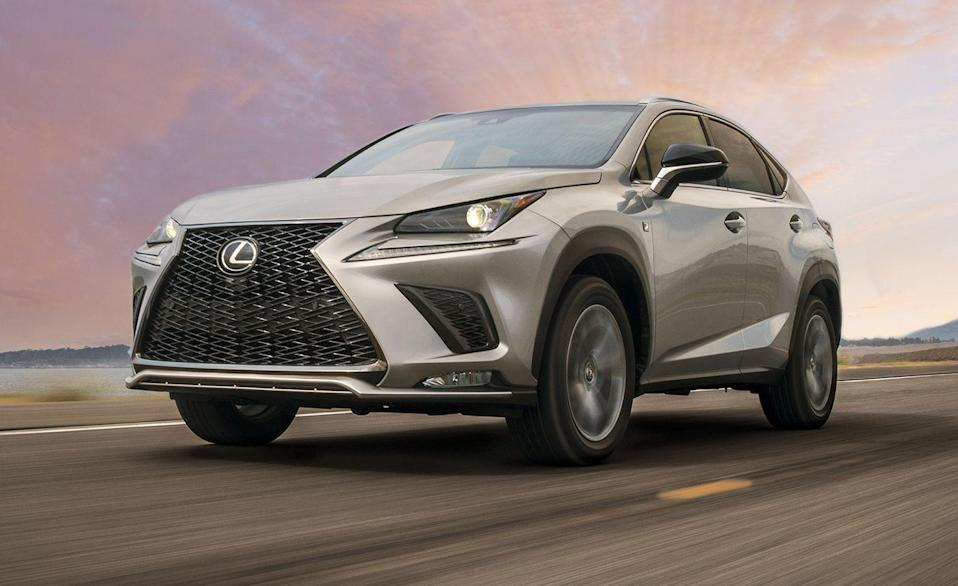 """<p>The <a href=""""https://www.caranddriver.com/lexus/nx-2021"""" rel=""""nofollow noopener"""" target=""""_blank"""" data-ylk=""""slk:Lexus NX"""" class=""""link rapid-noclick-resp"""">Lexus NX</a> hasn't changed much since its launch in 2014 but remains the most popular SUV in the segment. The NX has a few different powertrain options. The NX300 is powered by a 235-hp turbocharged inline-four with a six-speed automatic. The hybrid NX300h has all-wheel drive and a combined output of 194 horsepower. Front-wheel drive is standard on all gas-powered models, but all-wheel drive is optional. The NX300 F Sport has an adaptive suspension, sporty looks, and super-comfortable seats. The NX was named a Top Safety Pick+ by the Insurance Institute for Highway Safety, making it one of the <a href=""""https://www.caranddriver.com/features/g15086429/safest-suv/"""" rel=""""nofollow noopener"""" target=""""_blank"""" data-ylk=""""slk:safest SUVs sold today"""" class=""""link rapid-noclick-resp"""">safest SUVs sold today</a>. A <a href=""""https://www.caranddriver.com/lexus/nx"""" rel=""""nofollow noopener"""" target=""""_blank"""" data-ylk=""""slk:redesigned 2022 NX"""" class=""""link rapid-noclick-resp"""">redesigned 2022 NX</a> is coming soon, and is expected to share its powertrain and chassis with the Toyota RAV4.</p><ul><li>Base price: $38,635</li><li>EPA Fuel Economy combined/city/highway: 25/22/28 (FWD) 31/33/30 (Hybrid) mpg</li><li>Rear cargo space: 17 cubic feet</li></ul><p><a class=""""link rapid-noclick-resp"""" href=""""https://www.caranddriver.com/lexus/nx-2021/specs"""" rel=""""nofollow noopener"""" target=""""_blank"""" data-ylk=""""slk:MORE NX SPECS"""">MORE NX SPECS</a></p>"""