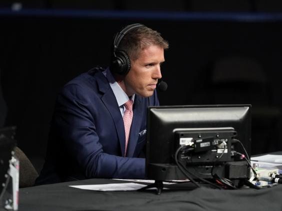 Brendan Fitzgerald at ringside in Jacksonville, Florida (Zuffa LLC via Getty Images)