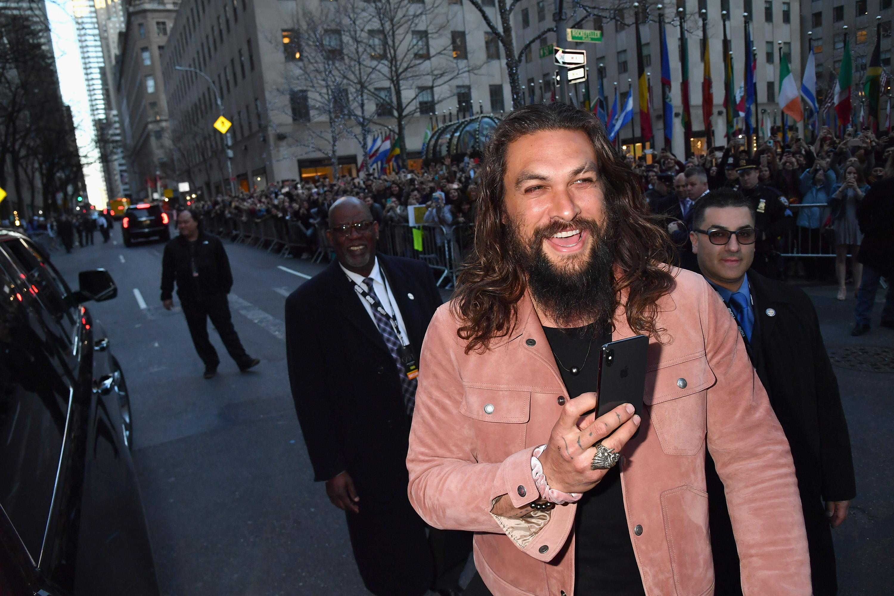 "NEW YORK, NY - APRIL 03: Jason Momoa attends the ""Game Of Thrones"" Season 8 NY Premiere on April 3, 2019 in New York City. (Photo by Jeff Kravitz/FilmMagic for HBO)"