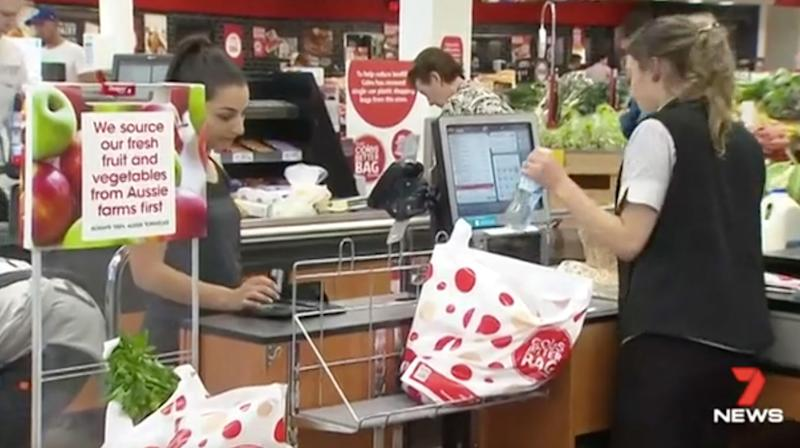 Aussie supermarket backflips over plastic bags