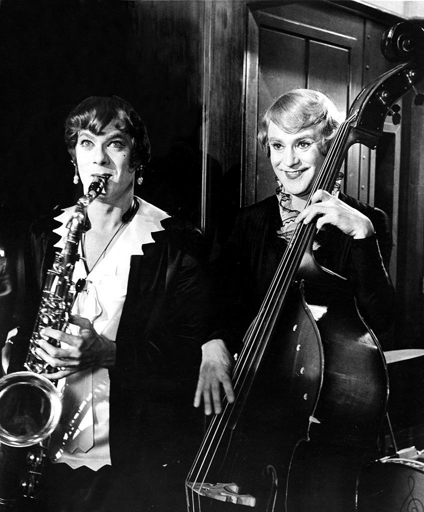 """<a href=""""http://movies.yahoo.com/movie/some-like-it-hot/"""" data-ylk=""""slk:SOME LIKE IT HOT"""" class=""""link rapid-noclick-resp"""">SOME LIKE IT HOT</a> (1959) <br>Directed by: <span>Billy Wilder</span> <br>Starring: <span>Marilyn Monroe</span>, <span>Tony Curtis</span> and <span>Jack Lemmon</span>"""