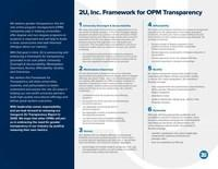 2U, Inc. Framework for OPM Transparency
