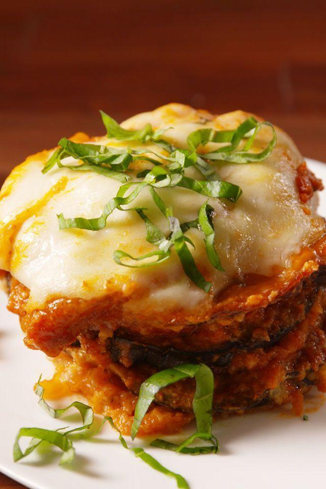 """<p>No frying required for this easy eggplant dinner — the slow cooker does all the work for you. </p><p><em><a href=""""https://www.delish.com/cooking/recipe-ideas/recipes/a50701/slow-cooker-eggplant-parm-recipe/"""" rel=""""nofollow noopener"""" target=""""_blank"""" data-ylk=""""slk:Get the recipe from Delish »"""" class=""""link rapid-noclick-resp"""">Get the recipe from Delish »</a></em></p>"""