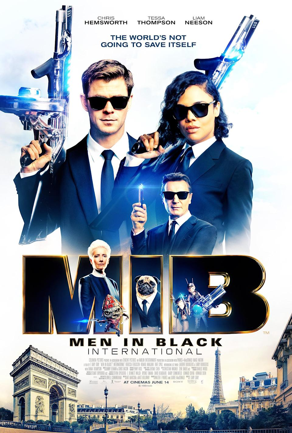 Liam Neeson is front-and-centre on the new poster for 'Men in Black: International'