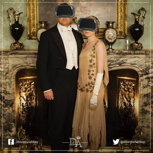 Downton Abbey promotional photo with Oculus Rift headsets