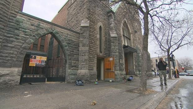 Union United Church is 113 years old, and staff hate seeing needles, pipes, urine and feces being left in front of the historic building.  (CBC - image credit)